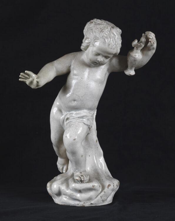 Infant Bacchus glazed earthenware