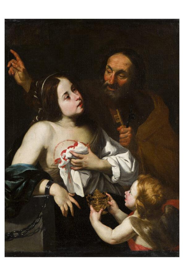 San Pietro che consola che consola Sant'Agata dopo il martirio