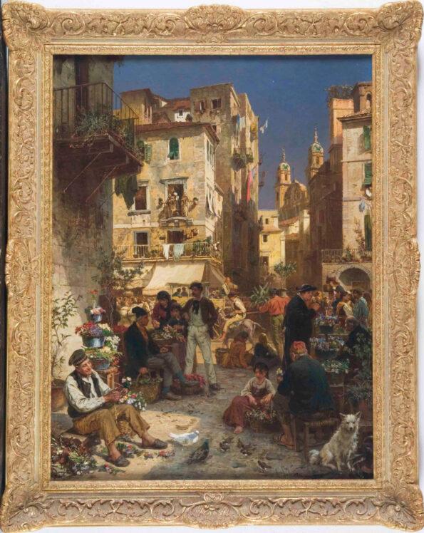 Mercato dei fiori a Palermo – Alois Schonn