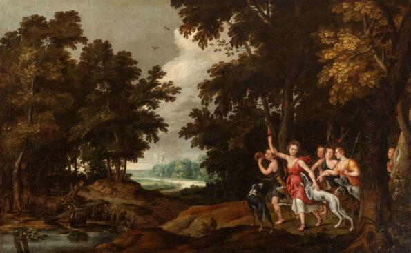 Diana e le sue ancelle prima della caccia