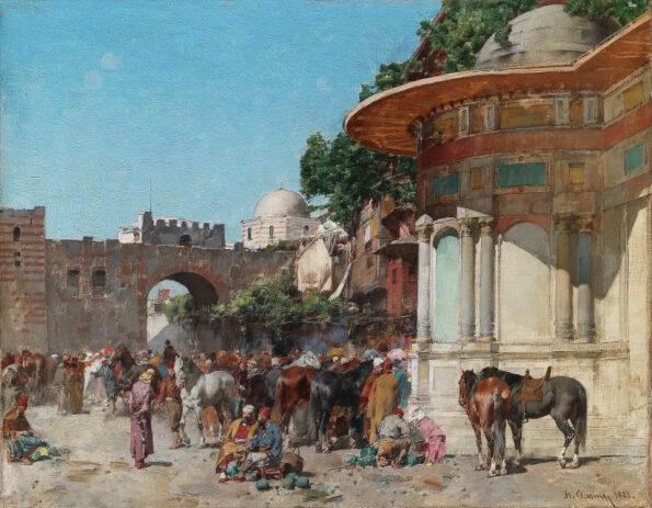 Un giorno di mercato a Costantinopoli