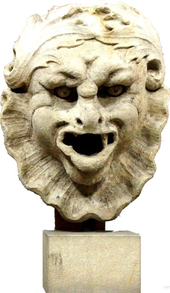 Mascherone di fontana in pietra