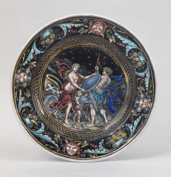 Plate in Limoges enamel