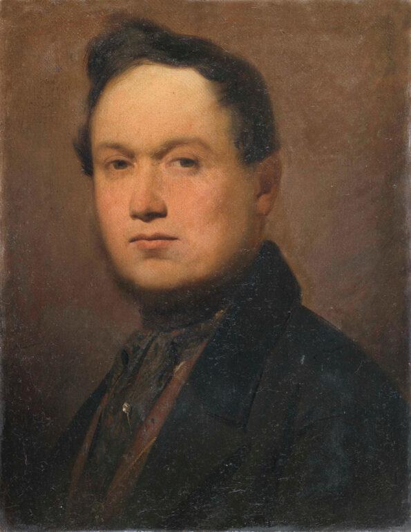 Ritratto di gentiluomo in prima tela con cornice coeva impero