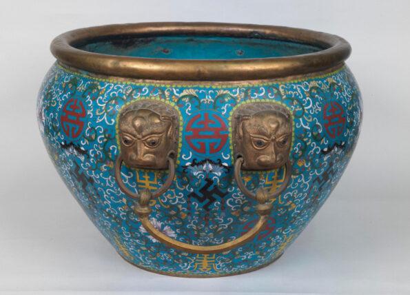 Vaso Cloisonne Cina Dinastia Qing