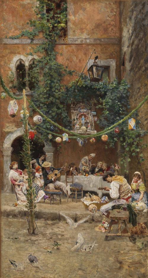 Festa in un cortile romano